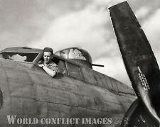 WW2 B-17 Bomber Man 'O War II Horsepower LTD #1 8x10 Nose Art Photo 91st BG ETO