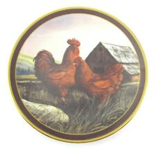 """ROOSTER COLLECTOR PLATE """"Rhode Island Red"""" King of Roost Series Trevor Swanson"""