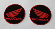 Honda Wings stickers/decals-60mm Red/Black-HIGH GLOSS DOMED GEL FINISH