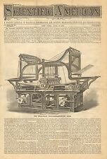 Printing Press, The Wharfdale Two Feeder, Vintage 1870 Antique Print