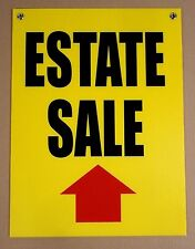 ESTATE SALE with ARROW POINTING STRAIGHT AHEAD 18x24 Coroplast Sign w/Grommets y