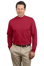 Port & Company by Hanes Mens 100% Cotton Long Sleeve Mock Turtleneck T-Shirt 3XL