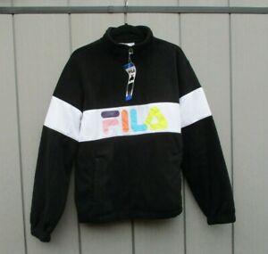 "Ladies Fila Fleece Jacket, Half Zip Pullover Sweater Jumper Large 44"" Chest BNWT"