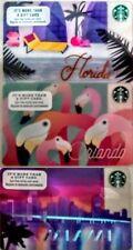 Lot 3 Starbucks MIAMI, ORLANDO, & FLORIDA gift card set