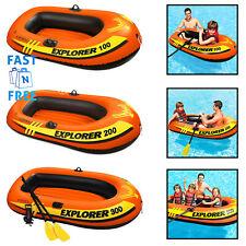 Inflatable Children Boat 1/2/3 Person Airblown Swimming Pool Lake Kids Swim Boat