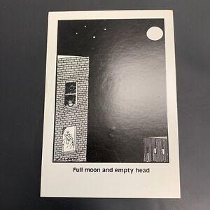 "The Far Side Gary Larson Postcard Full Noon And Empty Head 1987 4"" x 6"""
