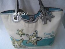 AUTHENTIC COACH STARFISH BEACH MOTIF LARGE TOTE  #19212 EUC