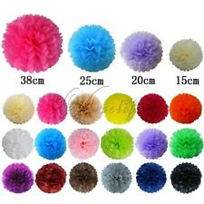 "DIY Tissue Paper Pom Poms Flower Kissing Ball Props for Wedding 6"" 8"" 10"" 15"""