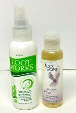 Lot of Avon Foot Works / Sugar Lime Mojito Spray 3.4 oz / Lavender 3-in-1 Oil