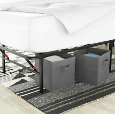 AmazonBasics Foldable Metal Platform Bed Frame Full Size - Black AMZ-14BIBF-F