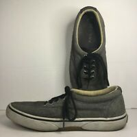 Sperry STS13147 Canvas Boat Shoes Gray Men's Size 10.5 M Slip-On Flats
