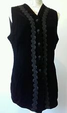 Marks and Spencer St Michael ladies waistcoat pattern good condition black UK14