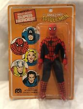 1975 Mego The Amazing Spider-Man 8 inch Action Figure New on Card Marvel Comics