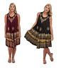 Women Ladies Plus Size Sleeveless Dress Beach Summer Sundress Embroidered Neck