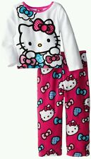 AUTH. BNWT HELLO KITTY LITTLE GIRLS HEARTS AND BOWS COZY FLEECE PAJAMA SET (2T)
