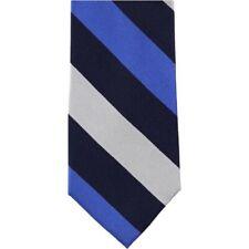 NEW $69 TOMMY HILFIGER NAVY BLUE BOLD STRIPED 100% SILK NECK TIE