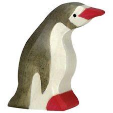 Holztiger 80213 Pinguin klein Kopf nach vorn Holzfigur bemalt