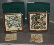 Lot of Two Harmony Kingdom Picturesque Tiles Ruffian's Feast and Storm Brewing