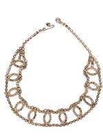 """VTG Rhinestone Choker Necklace Jewelry Prong Setting 15"""""""