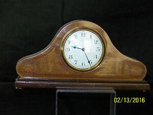"Art Deco Bayard Duverdrey & Bloquel Inlaid Shelf Mantle Clock-""Works Great"""
