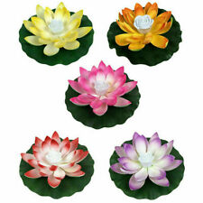 Floating Solar Powered LED Lotus Flower Light Pond -Pool Garden Landscape Lamps