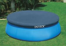 Genuine INTEX 12ft 360cm Pool Cover Easy Set Pool Incl Rope tie down 30cm drop