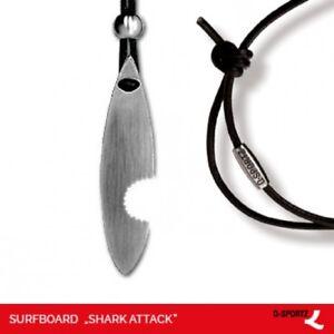 """Q-Sportz Surfboard """"Shark Attack"""" Schmuck Anhänger Edelstahl"""
