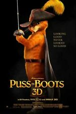 PUSS IN BOOTS great original D/S 27x40 movie poster (s01)