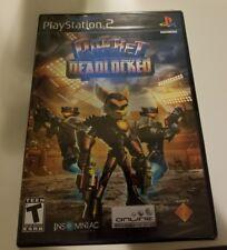 Ratchet: Deadlocked (Sony PlayStation 2, 2006) Black label, Brand new! Y FOLD