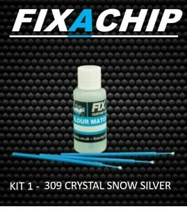 SAAB CAR TOUCH UP PAINT - CODE 309 - CRYSTAL SNOW SILVER (KIT 1)