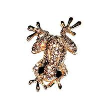 Brooch/Pin Absolutely Stunning Gt Clear Rhinestones Froggie Sparkling Frog