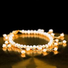 Fashion Women Freshwater Pearl Bracelet Bangles Bracelets Chain Adjustable Size