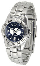 BYU Brigham Young Cougars Womens Ladies Steel Sport AnoChrome Watch