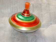 VINTAGE USSR SPINNING WHIPPING TOP TIN TOY WORKING CONDITION METAL Юла Yula Jula