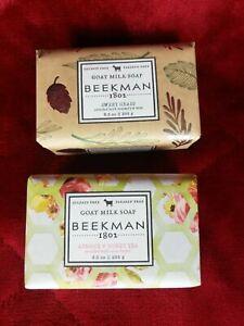 Beekman 1802 GOAT MILK SOAP 2 Pieces Apricot & Honey + Sweet Grass