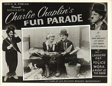 WORK (1915) Charlie Chaplin & Edna Purviance Essanay Lobby Card Great Images!