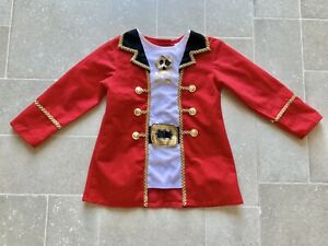 PIRATE OUTFIT JACKET CAPTAIN HOOK PETER PAN COSTUME OUTFIT AGE 3-4 FANCY DRESS