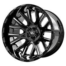"20"" Inch V Rock VR10 Recoil 20X9.5 6x5.5"" +15mm Black/Milled Wheel Rim"