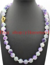 """Natural Beautiful 10mm Round Multi-color Kunzite Gemstone Beads Necklace 18""""AAA"""