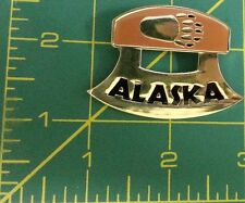 Ulu Shaped Metal Magnet from Alaska with Bear paw print - Ships worldwide