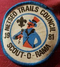 Boy Scoits Scout O Rama NETSEO Trails Council 1981 Patch