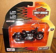 Harley Davidson 2004 Flstfi Fat Boy rojo motocicleta 1/18 Maisto juguete serie