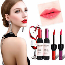 6Color Stylish Korean Red Wine Bottle Lip Tint Gloss Lipstick Liquid Bwauty Tool