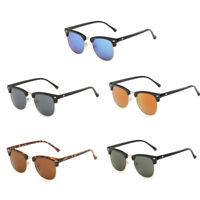 Vintage Sonnenbrille Hälfte Rahmen Brillen Retro UV 400 für Herren Damen Neu