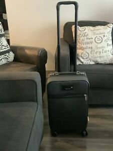 MICHAEL KORS TRAVEL TROLLEY Black Suitcase Roller Board Luggage Carryon