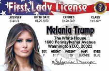Donald Trump 's wife Melania FIRST LADY plastic collector card Drivers License