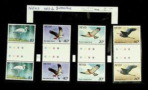 NEVIS BIRDS 4 GUTTER PAIRS MNH STAMPS #403-06 CV $14.10++