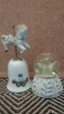 snow globe Carousel horse and bell christmas decorations ornaments