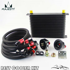 15 Row AN10 Trust Oil Cooler Filter Relocation Kit For Toyota Suzuki Subaru WRX