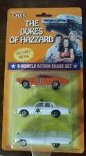 ERTL 1/64 THE DUKES OF HAZZARD CHASE SET GENERAL LEE,BOSS HOGGS, ROSCOE COLTRANE